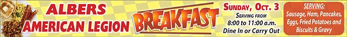 Albers Legion Breakfast - Mobile