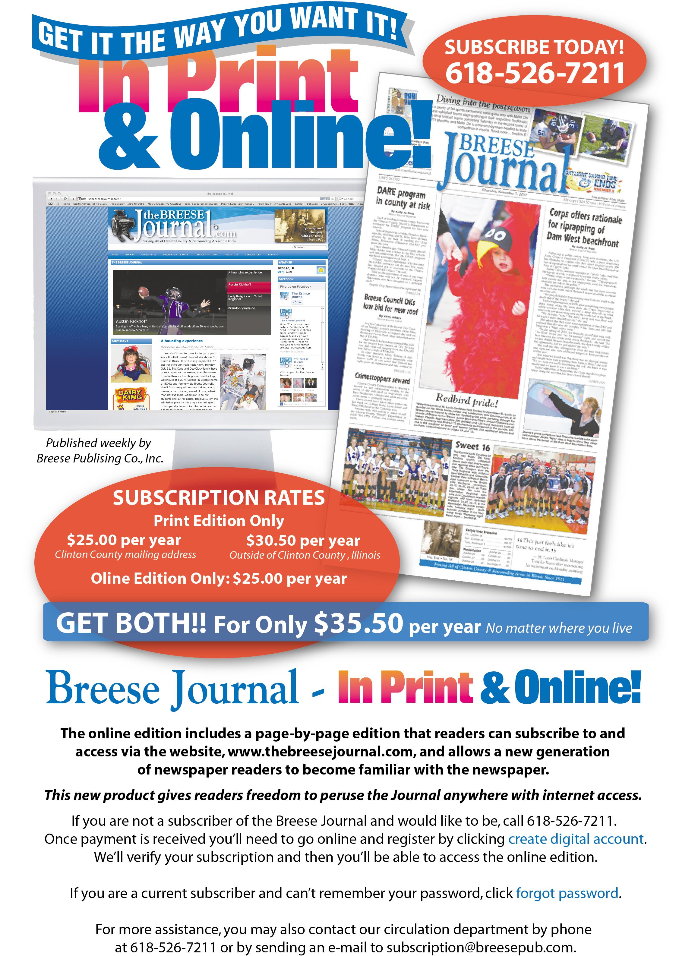 Illinois clinton county aviston - Subscriptions